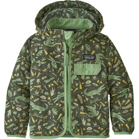 Patagonia Baggies Veste Enfant, alligators and bullfrogs/kale green